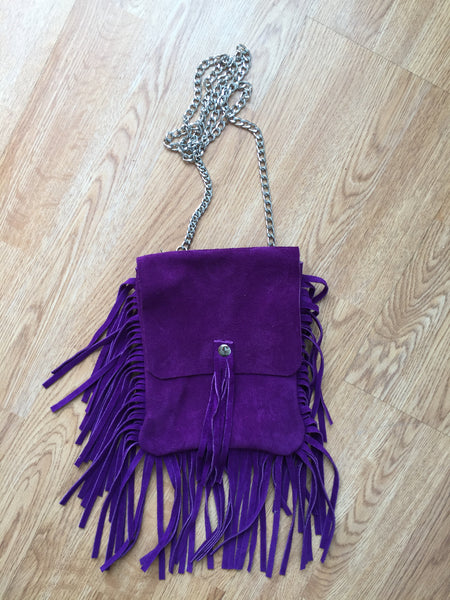 Taos Suede Crossbody/Belt Bag with Fringe