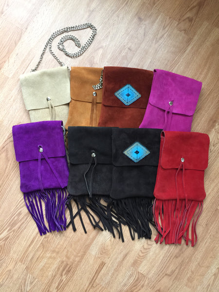 Taos Fringe Suede Leather Crossbody/Belt Bag