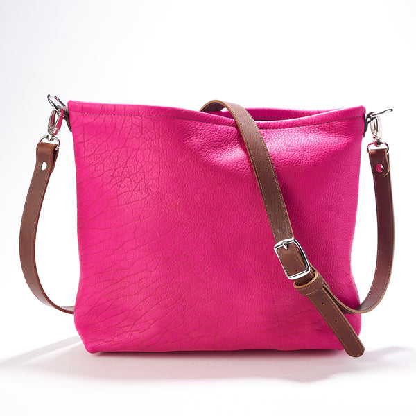 Laramie Fuchsia Elk Leather Cross Body