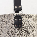 Milan Ivory/Black Western Tool Leather