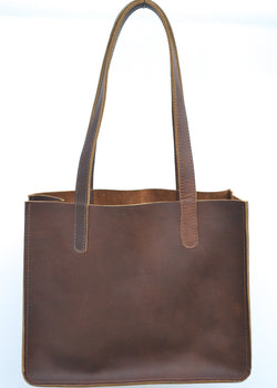 Paris Brown Leather Tote