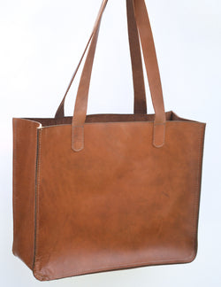 Paris Caramel Leather Tote