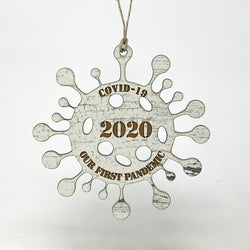 Covid-19 Pandemic 2020 Christmas Tree Ornament, Made in USA