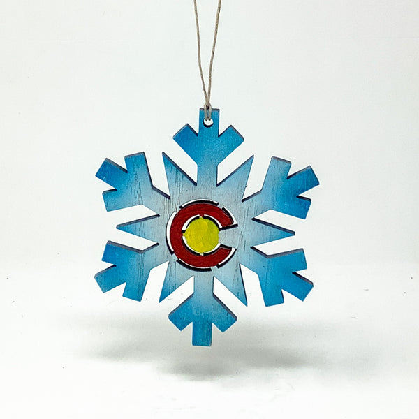 Christmas Tree Ornament, Colorado Flag, Made in USA
