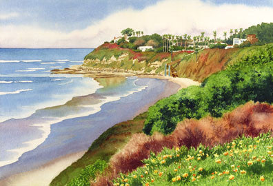 Beach at Swami's Encinitas - Matted Print