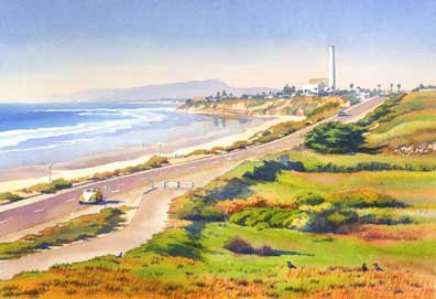Carlsbad Rt 101 - Matted Print