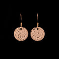 Hammered Microtag Earrings