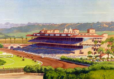 New Del Mar Race Track - Matted Print