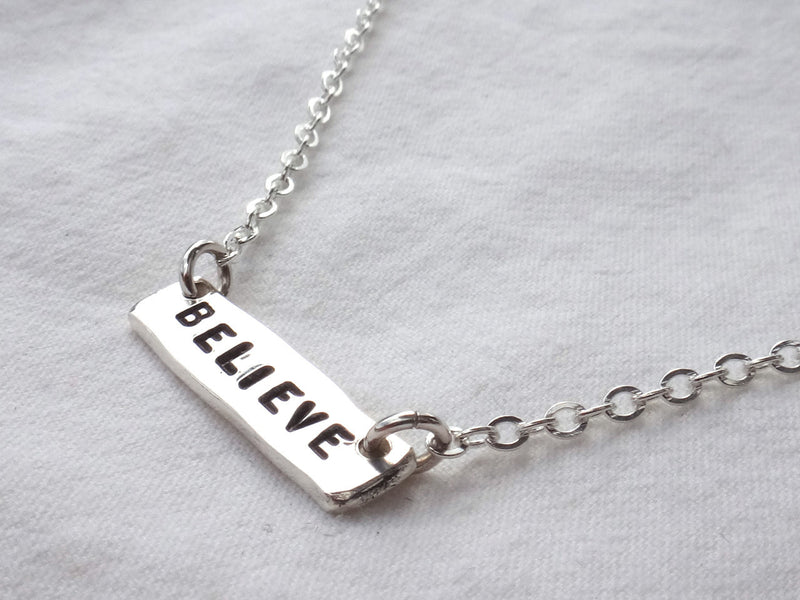 Mantra Tag Necklace - Hope, Dream, Believe