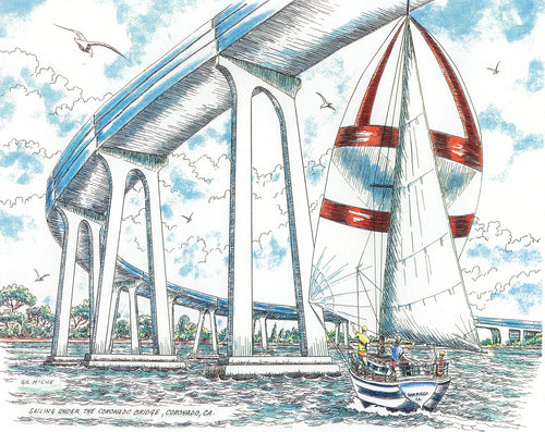 Sailing Underneath the Coronado Bridge