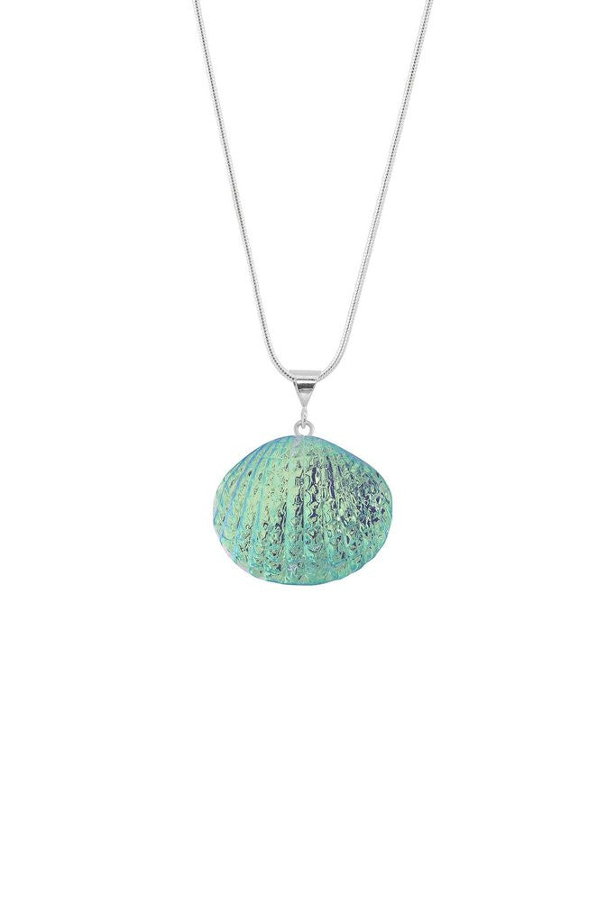 silver scallop file page product sterling pure with chain blue shell necklace jewelry approximately dot measures inspired an tall this tiny nature charm
