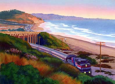Torrey Pines Commute - Matted Print