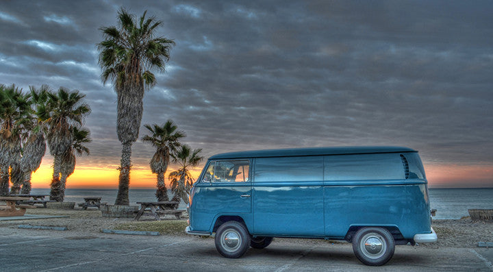 VW Bus at Sunset