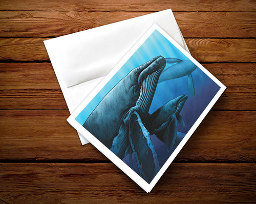 Humpbacks - Greeting Card