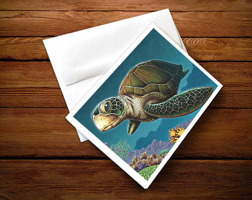 Sea Turtle - Greeting Card