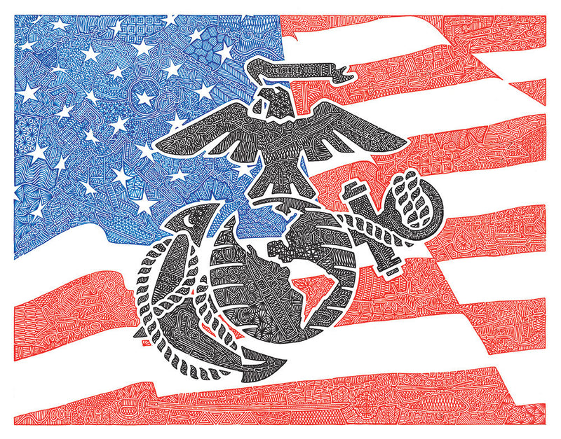 Marines - Red, White & Blue