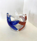 Starfish Vase - Red, White & Blue