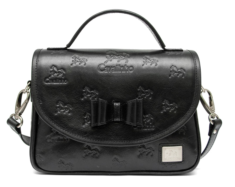 Black Signature Shoulder Bag