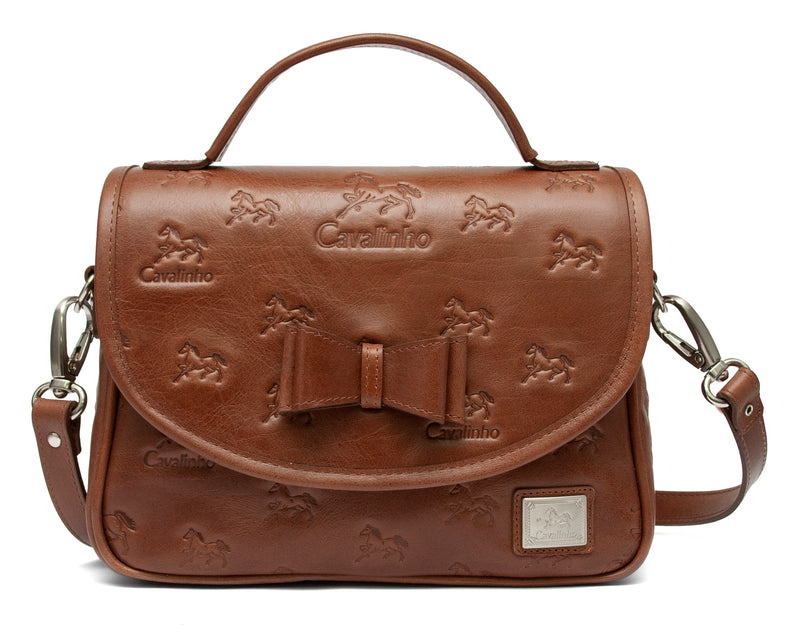 Camel Signature Shoulder Bag