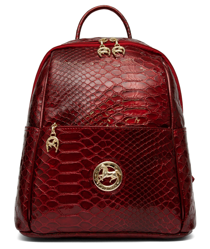 Red Patent Leather Backpack