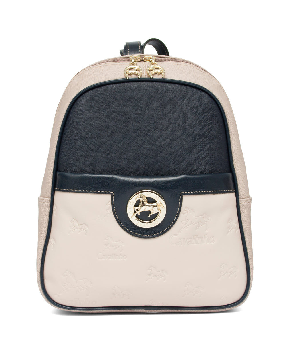 Beige Signature Backpack