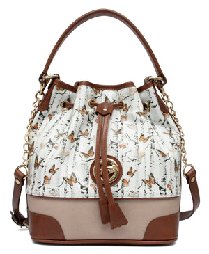 Mariposa Brown Bucket Bag