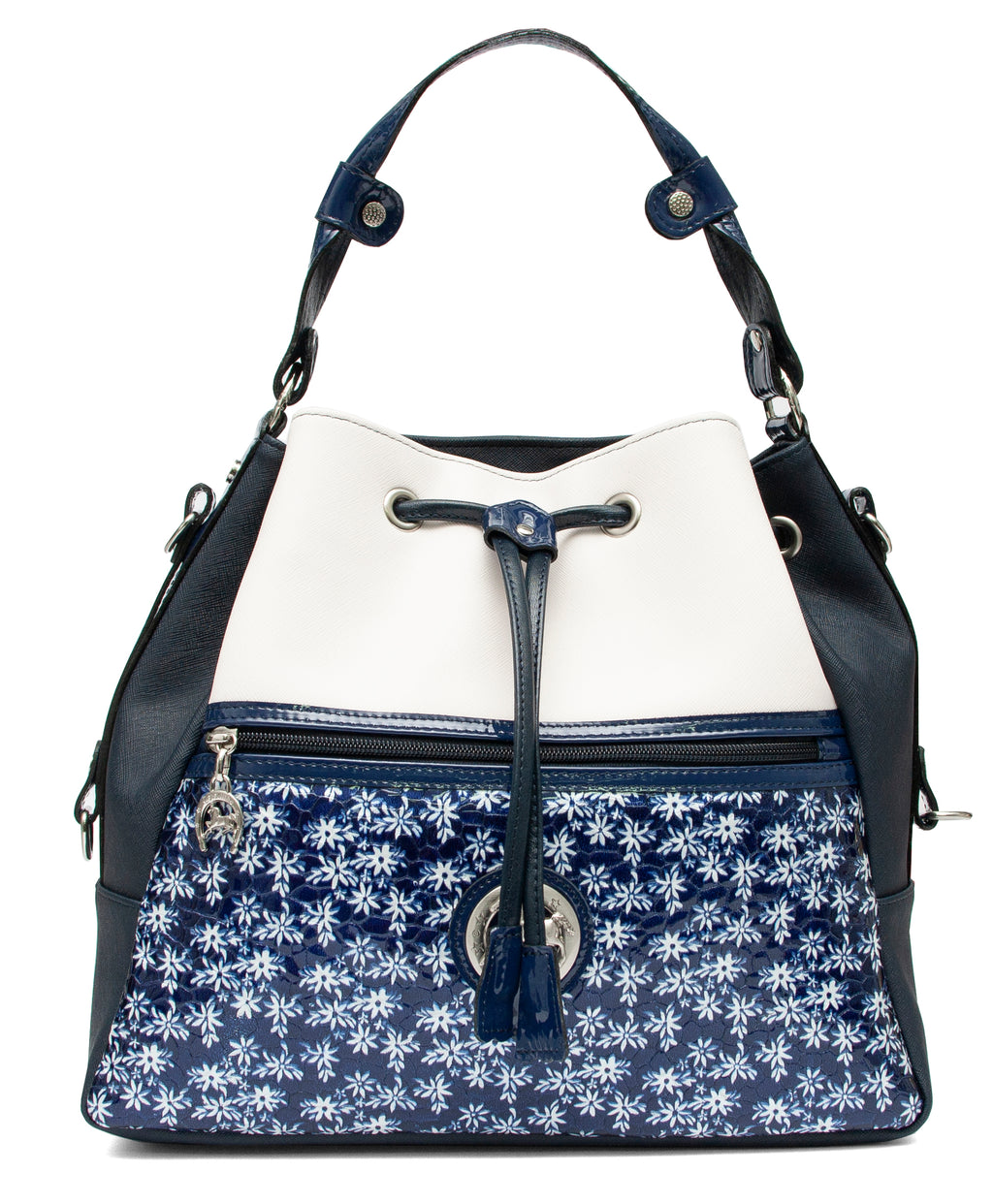 Serenity Blue Bucket Bag