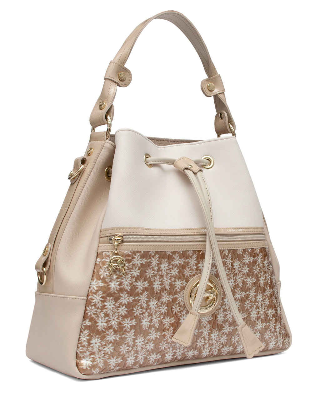 Serenity Beige Bucket Bag