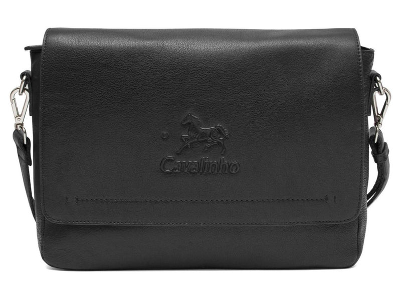 Mens Black Messenger Bag