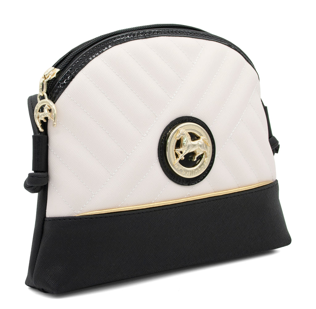 El Cavaleiro Black & White Crossbody Bag