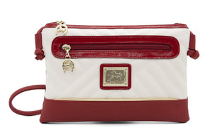 El Cavaleiro Red & White Crossbody Bag