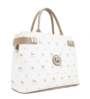 Country Side White Handbag