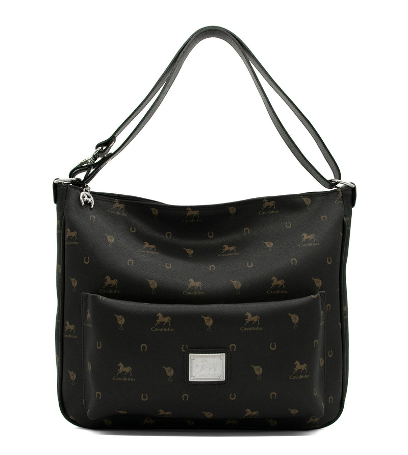 Country Side Black Shoulder Bag