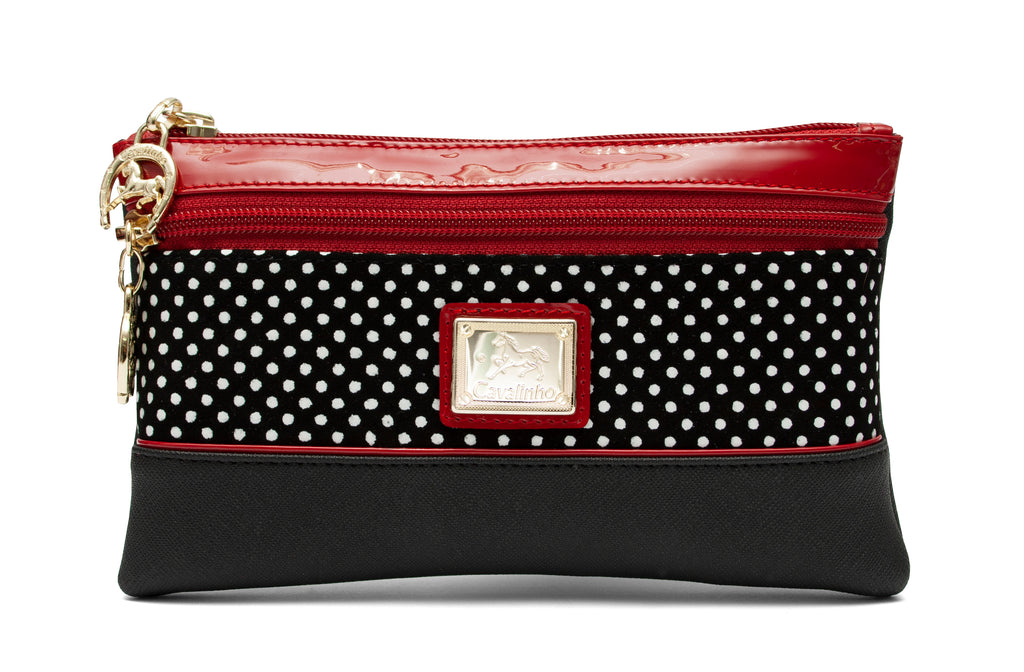 Small Polka Dots Large Cosmetic Case