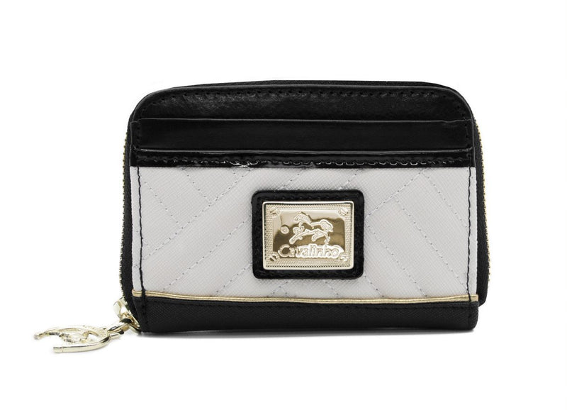 El Cavaleiro Black & White Change Purse