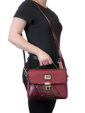Horse Bordeaux Shoulder Bag