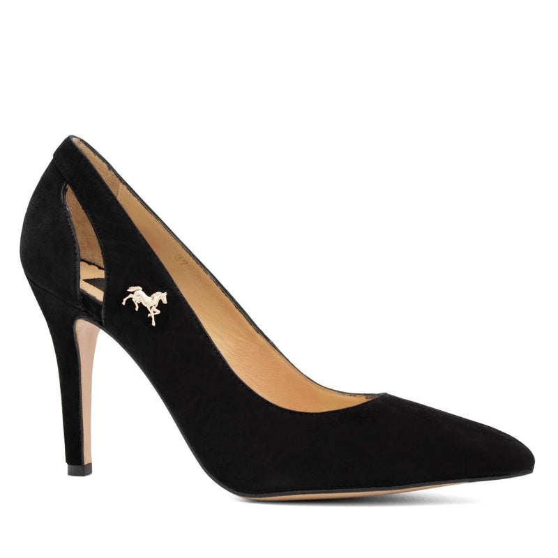 Suede Pump Black