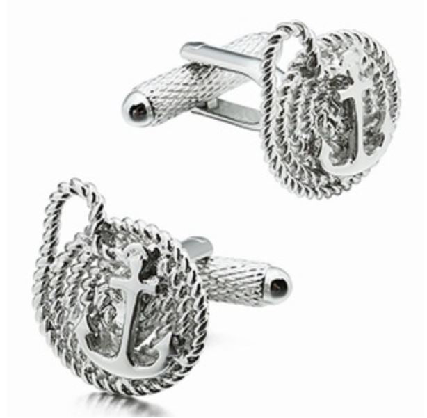 Anchor And Rope Cufflinks
