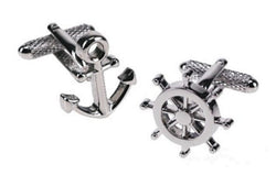 Anchor and Wheel Cufflinks