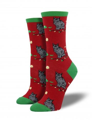 CHRISTMAS CAT-ASTROPHE SOCKS
