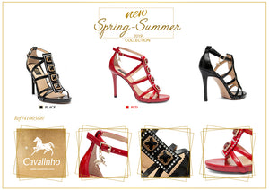 Jeweled Sandal Red