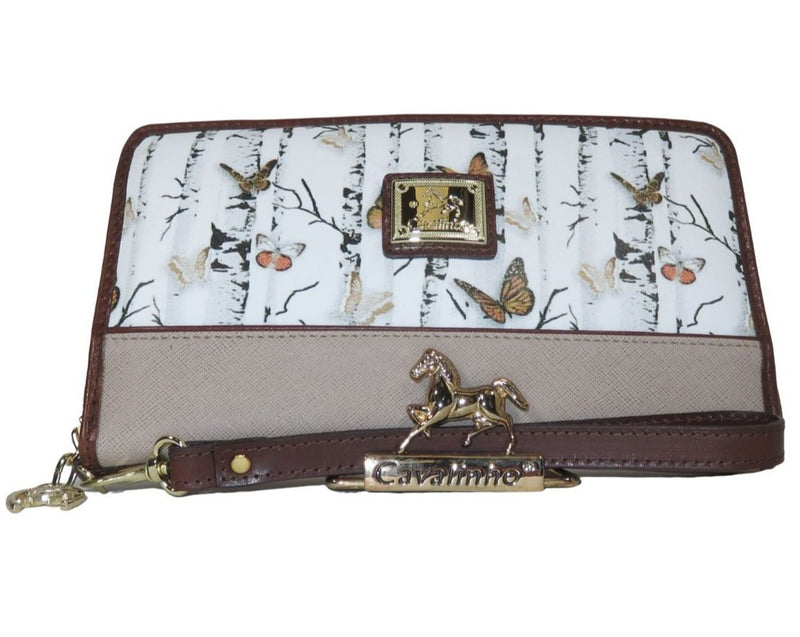 Mariposa Brown Wristlet