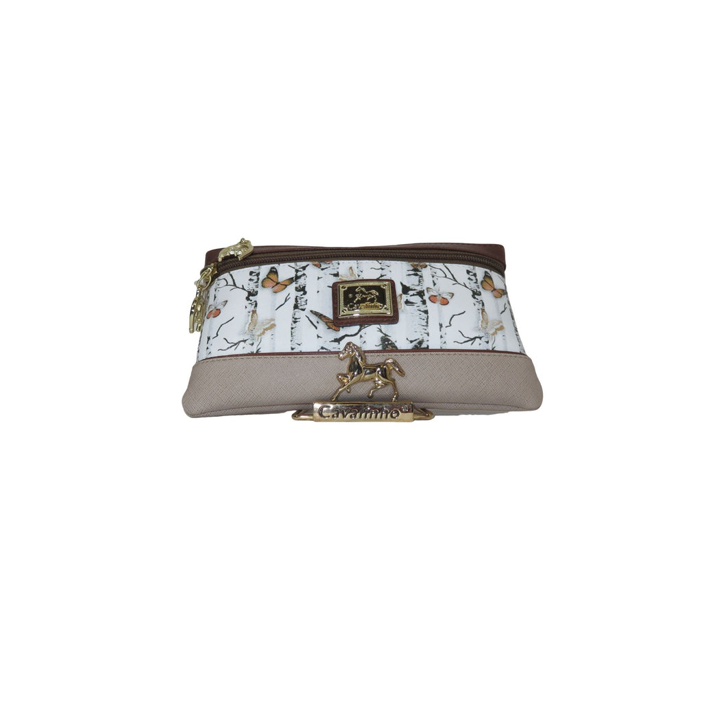 Mariposa Brown Cosmetic Case
