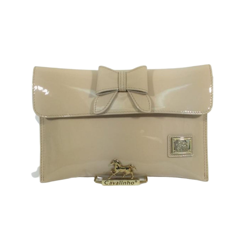 Patent Leather Beige Clutch