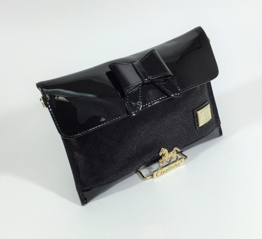 Clutch Patent Leather/Suede Black Viana