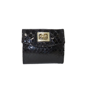 Black Patent Leather Mini Wallet