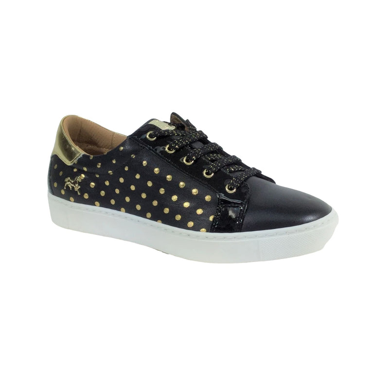 Black/Gold Polka Dots Vanilla Scented Sneakers