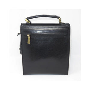Small Black Vintage Messenger Bag
