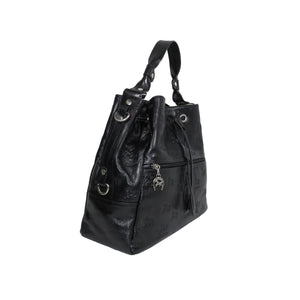 Black Signature Bucket Bag