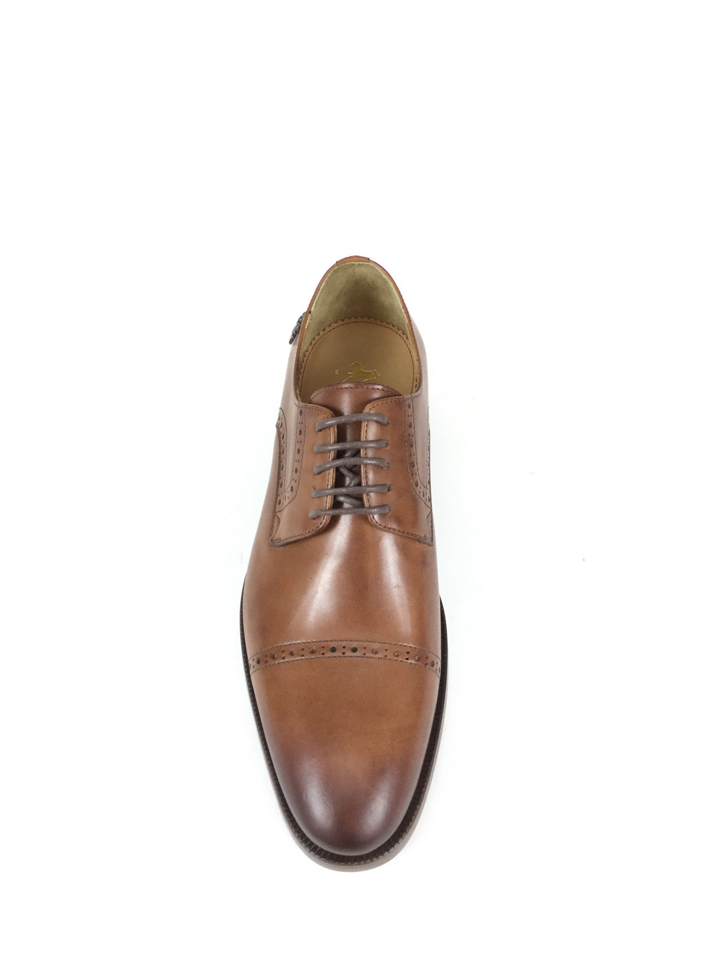 Cognac Cap Toe Brogue